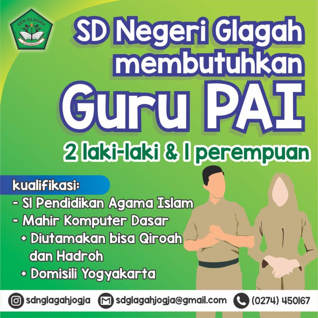 Lowongan Guru Pai Sd Glagah Yogyakarta Staims Yogyakarta